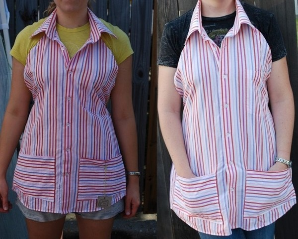 Перешить мужскую рубашку джинсовую в женскую
