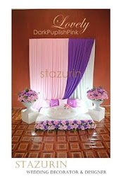 Pelamin Mini Eksklusif Pertunangan/Engagement/Pernikahan Pelamin LOVELY BABY PINK & DARK PURPLE