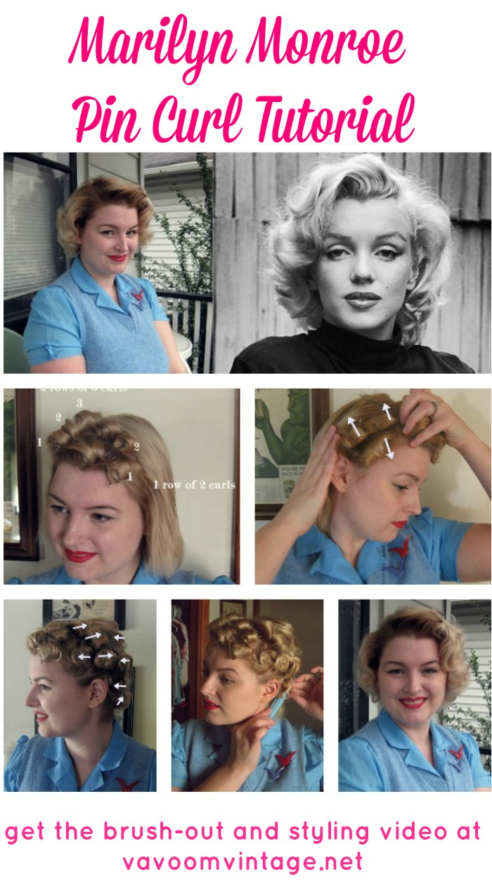 Tutorial a marilyn pin curl set va voom vintage vintage fashion marilyn monroe pin curl hair tutorial by vavoomvintage solutioingenieria Image collections