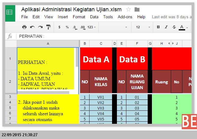 [.xls otomatis] Aplikasi Excel untuk Membuat Perlengkapan Ujian di Sekolah dengan fitur Lengkap