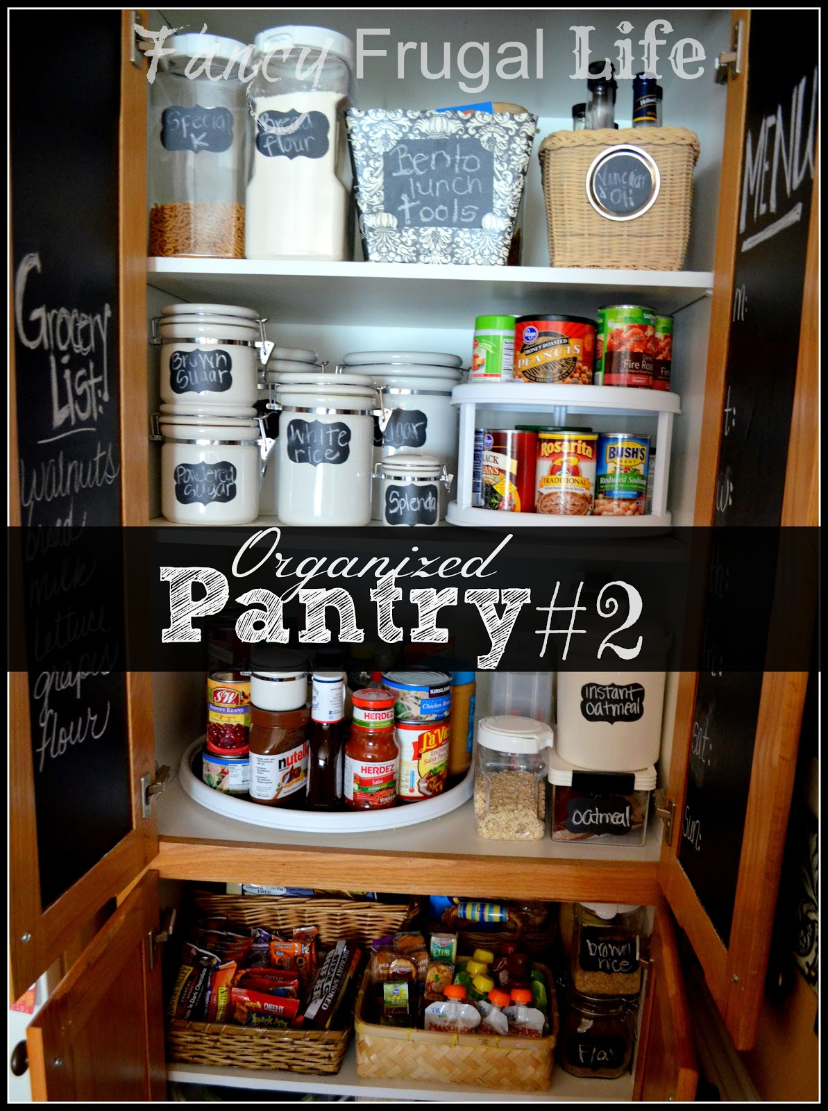 Pantry 2 Organizing With Thrift Store Items And