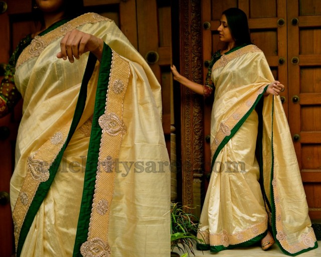 Trendy Raw Silk Designer Saree