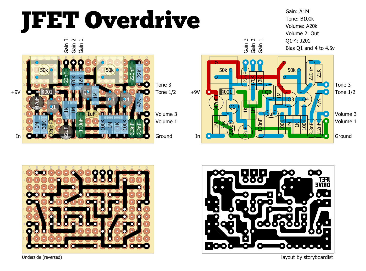 perf and pcb effects layouts 2015 it s another of nocentelli s designs and somewhat similar to the marvel drive original schematic can be found on the fsb th