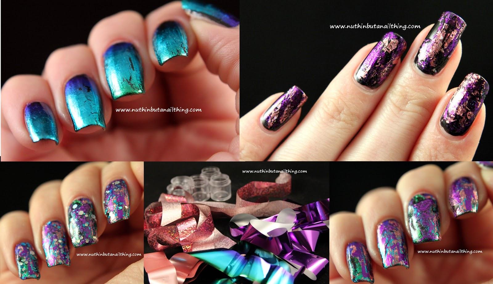 Как сделать фольгу на ногтях фото