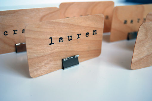 hippanonymous diy wooden place cards