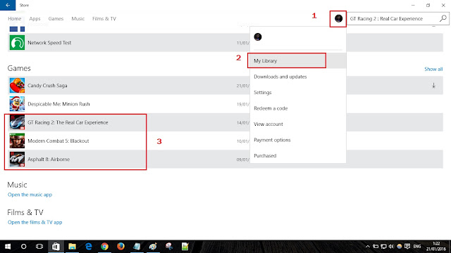 cara membuka game gratis windows 10