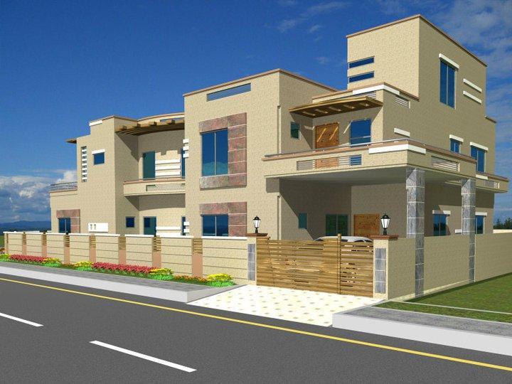 Front Elevation App : D front elevation pakistani sweet home houses floor