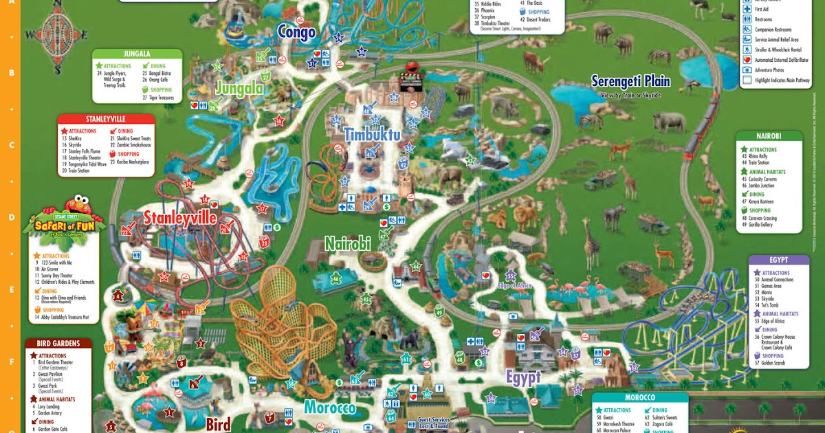 Map Of Busch Gardens From 1981 Pictures To Pin On