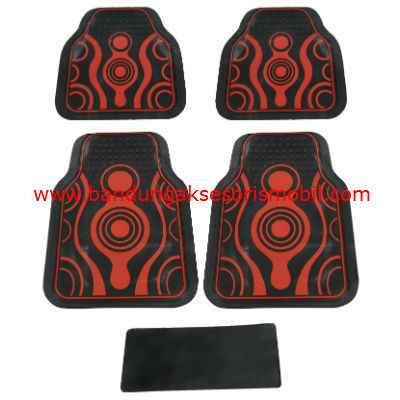 Karpet Abstrak Merah Japan