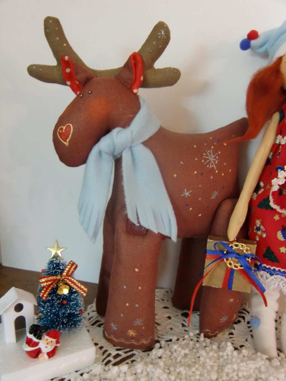 новогодние тильды олени выкройки