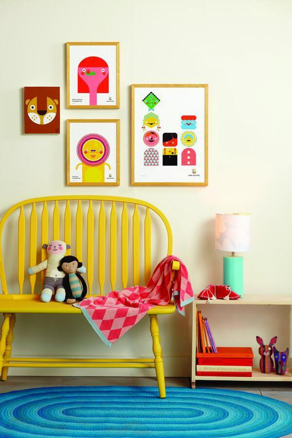 viejos muebles pintados para cuartos infantiles