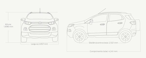 Dimensões do Ford Ecosport