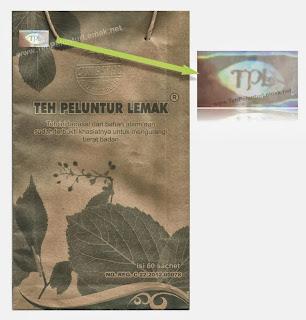 ciri-ciri teh peluntur lemak asli original