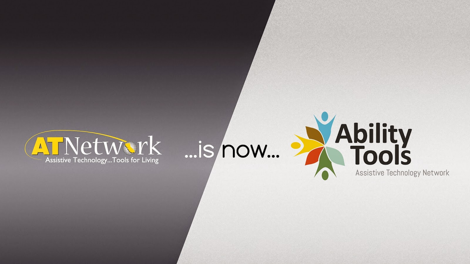 image of old logo and name AT Network is now Ability Tools new name and logo