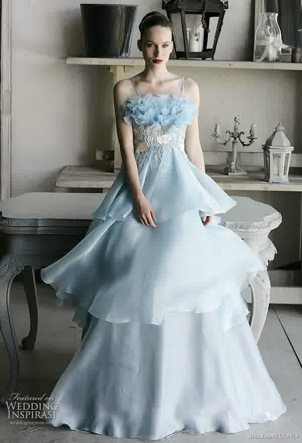 Expecting Powder Blue Bridal Gowns Trend | inspiration of prom fashion