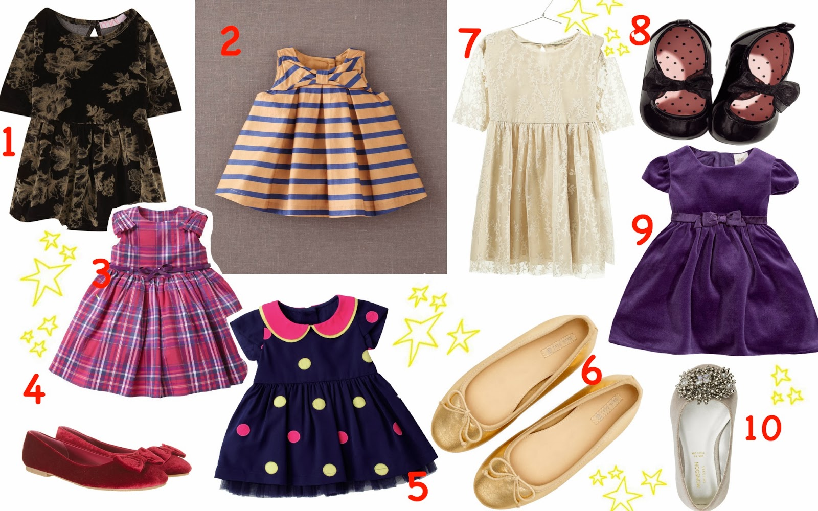 mamasVIB | V. I. BUYS: Stylish party outfits for little girls for £25 and under, V. I. BABY | Party outfits for little girls | party dress | ballerina shoes | girls party wear | christmas dressing