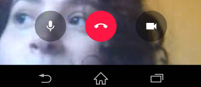 fazer chamadas de vídeo no Android hangouts