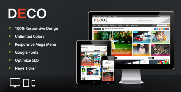 Free Download Deco Mag Responsive Magazine Blogger Template