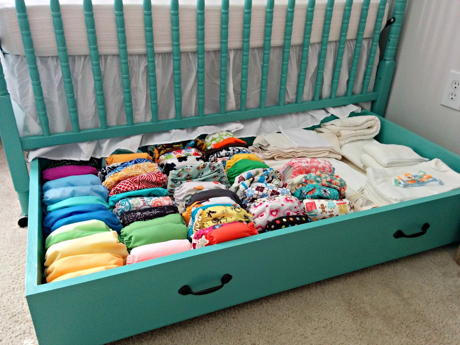 Cloth diaper revival diy crib drawer free plans for Big w bedroom storage