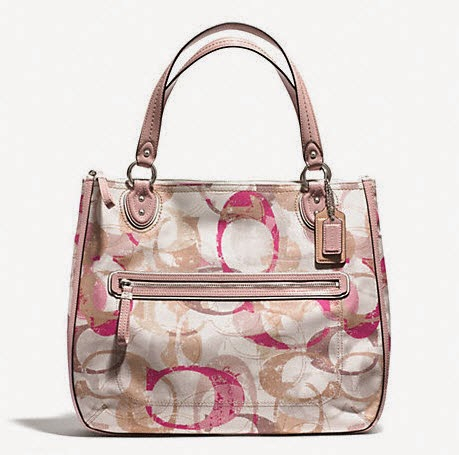 COACH Stamped Signature C Hallie East West Tote 31141