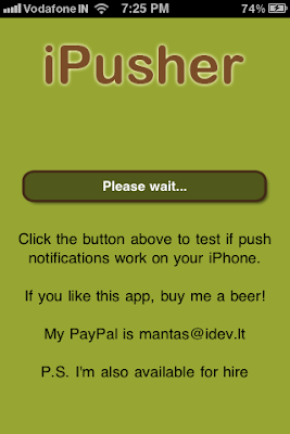 ipusher iphone