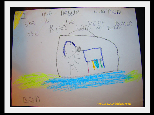 photo of: Kindergarten Writing Sample in Thank You Letter