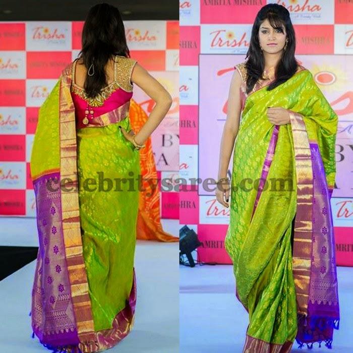 Kanjivaram Saree by Trisha's Trend