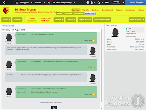 FM14 Private talk congratulate players