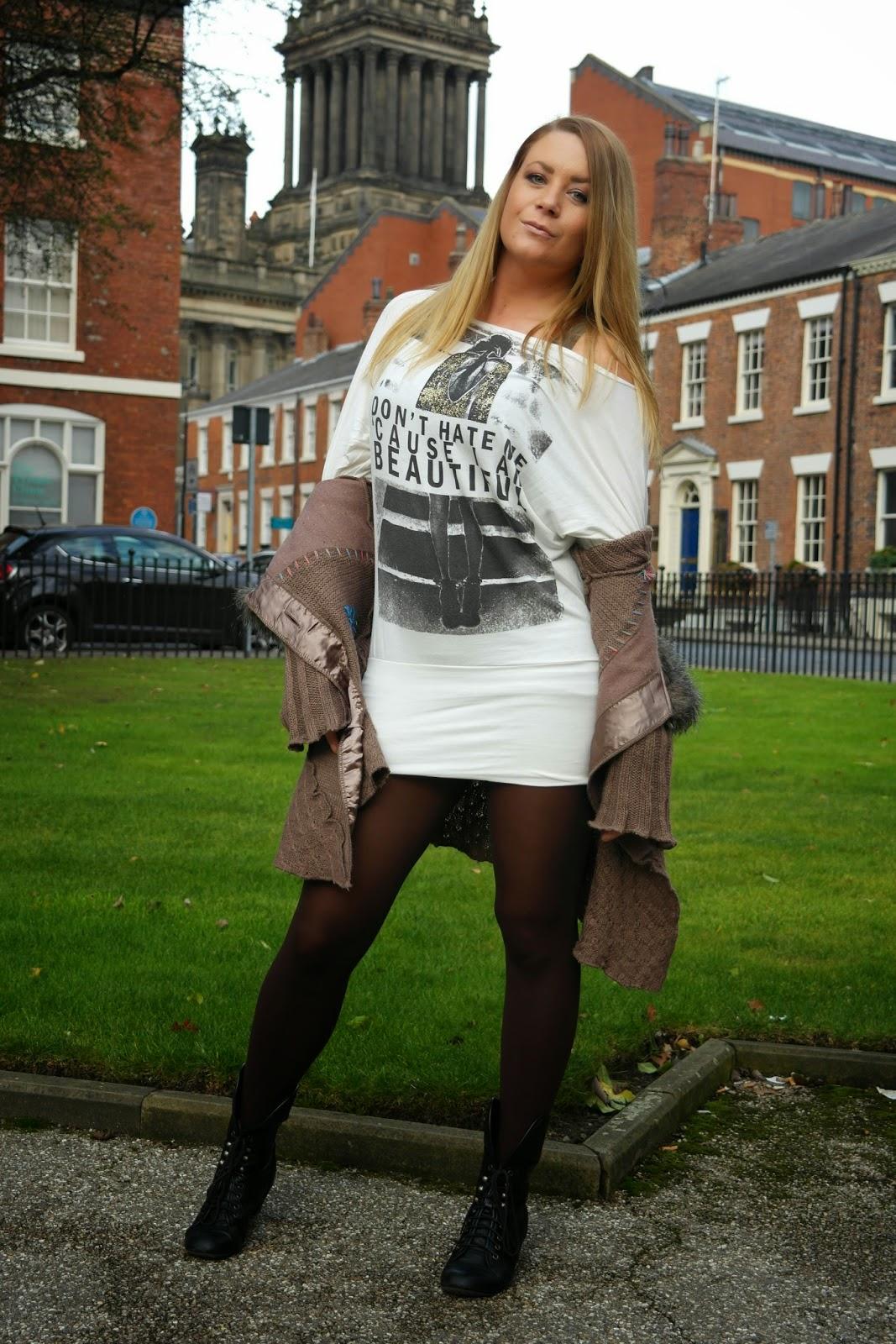 slouchy t-shirt dress