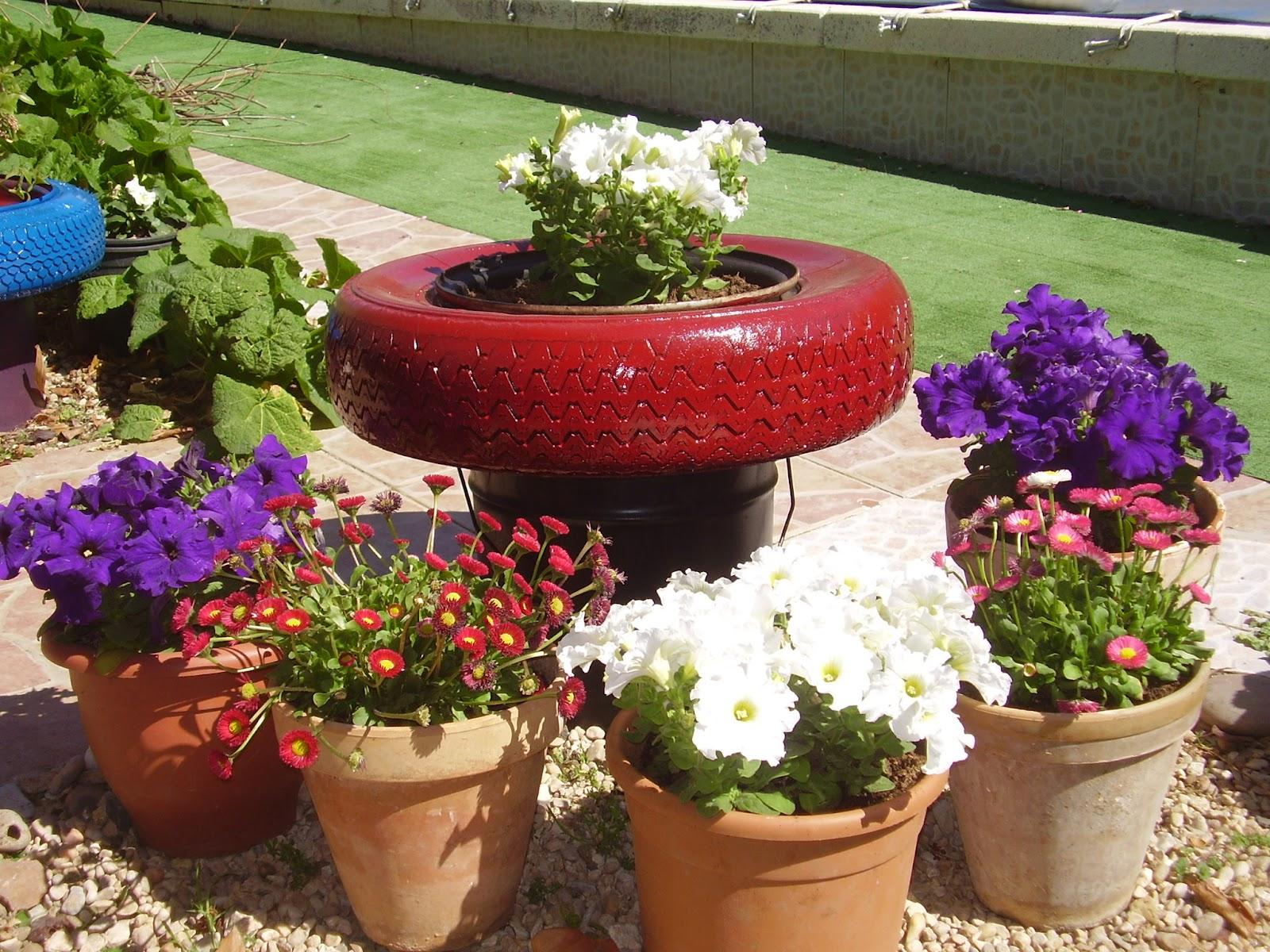 Jard n reciclaje y m s los reciclados de luisa for Reciclaje para jardin