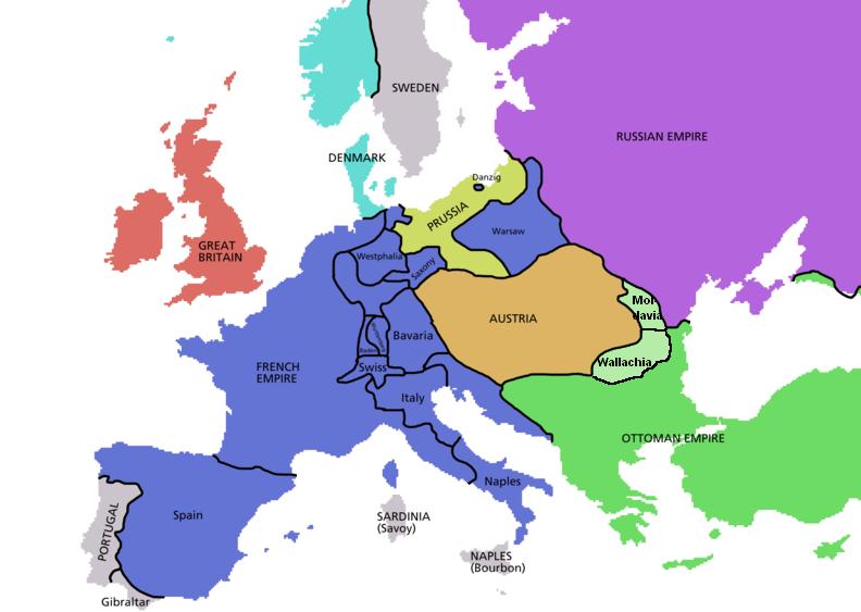 Europa de Napoleon Bonaparte