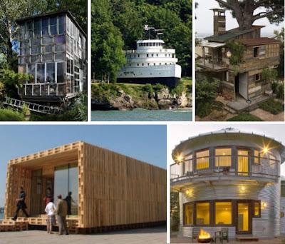 10 Rumah Mewah yang Terbuat dari Barang Bekas