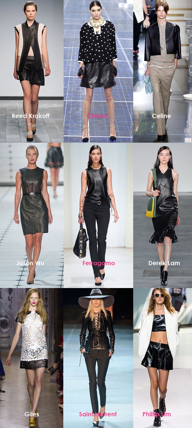Spring Summer Trends 2013, Leather