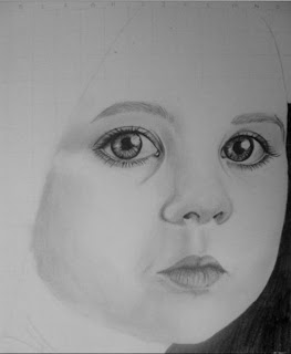 draw young girl's face - step 4
