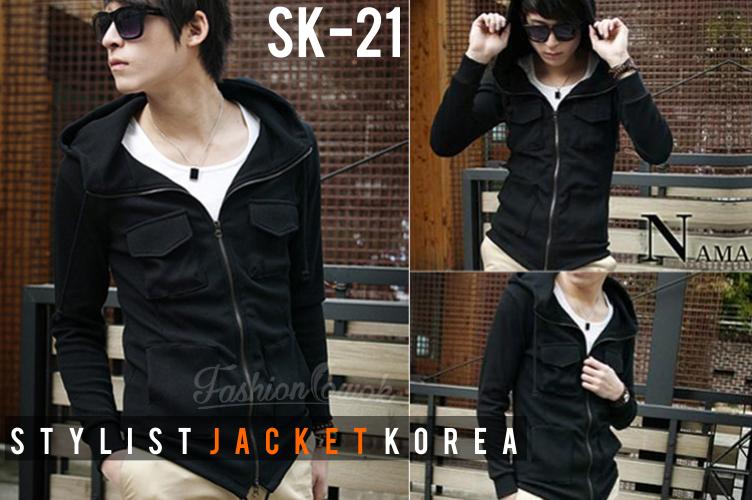 FASHION COWOK   Toko Jaket Online   Jaket Crows Zero   Jaket Korean Style   jual murah Korean Hooded Jacket Style   Jaket National Geographic