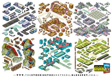http://studioblinktwice.deviantart.com/art/Von-Doogan-Danger-Maze-Game-Assets-Tileset-part-2-572621253