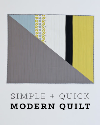 a simple yet elegant and striking modern quilt that's a cinch to whip up, inspired by Hopewell Workshop | Lovely and Enough