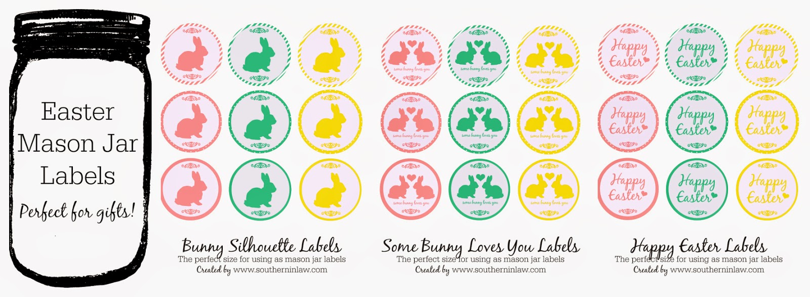 southern in law free easter printables mason jar labels