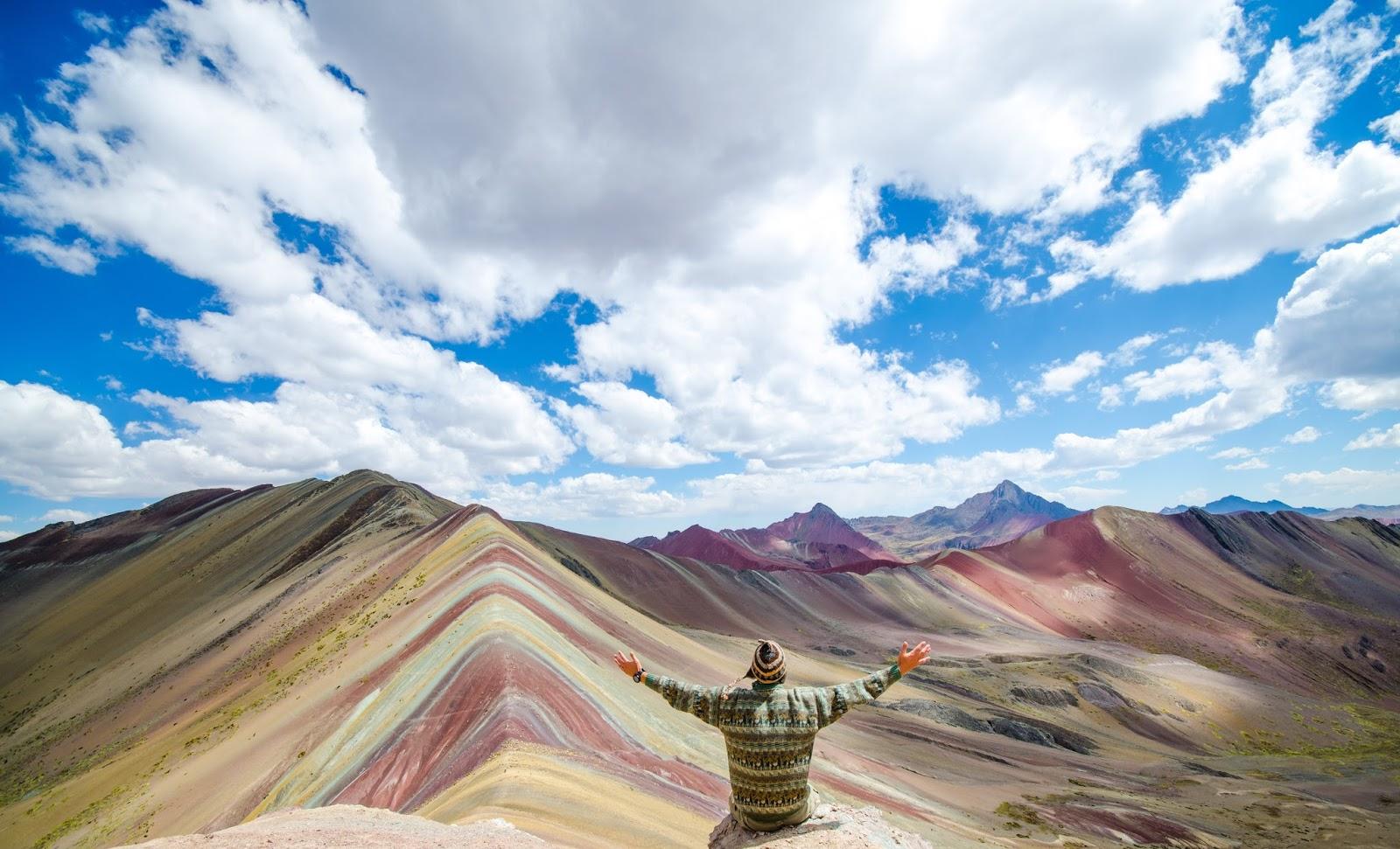 Rainbow mountain of peru