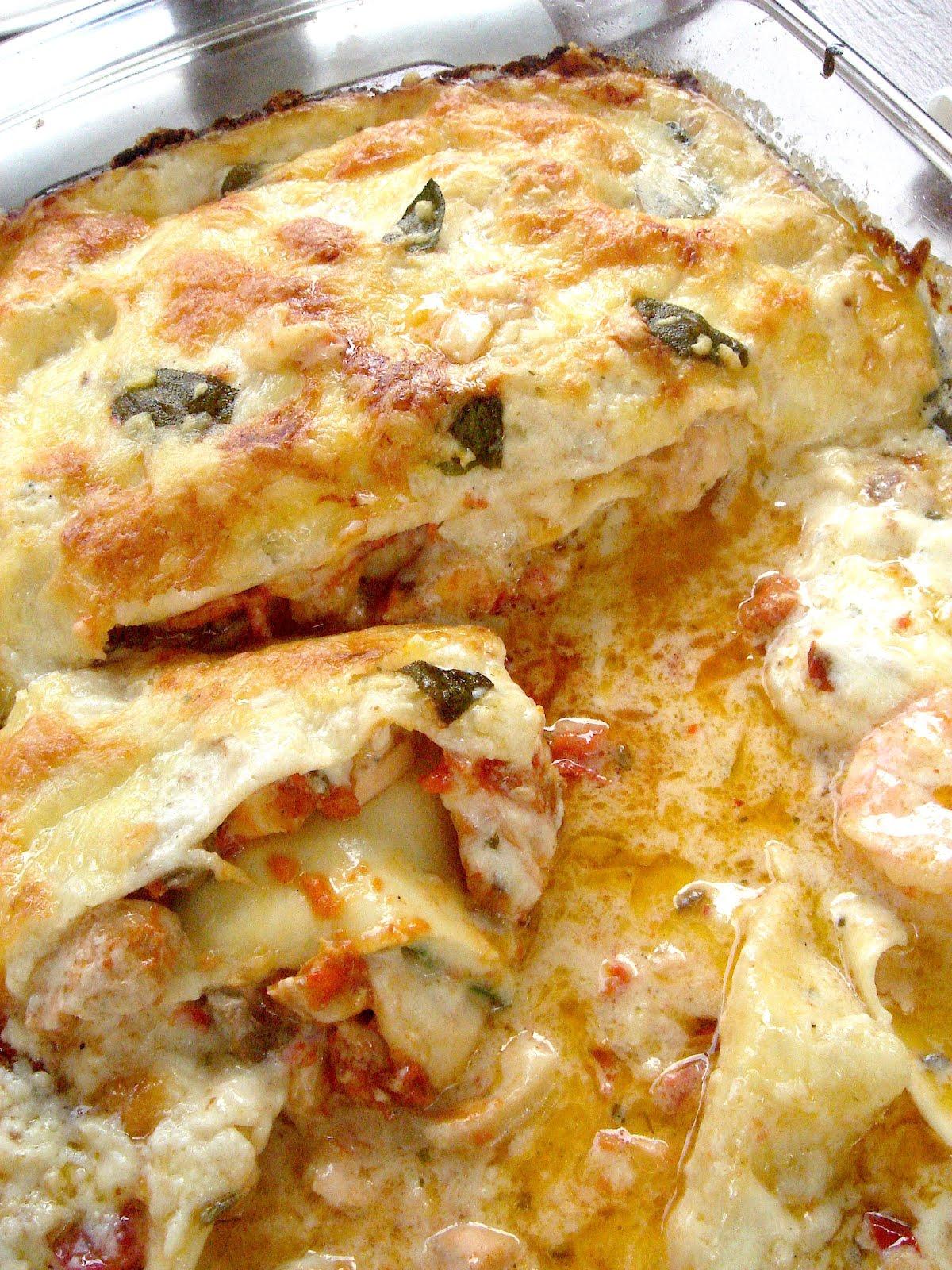 East meets West: Seafood Lasagne (Lasagne aux Fruits de Mer)
