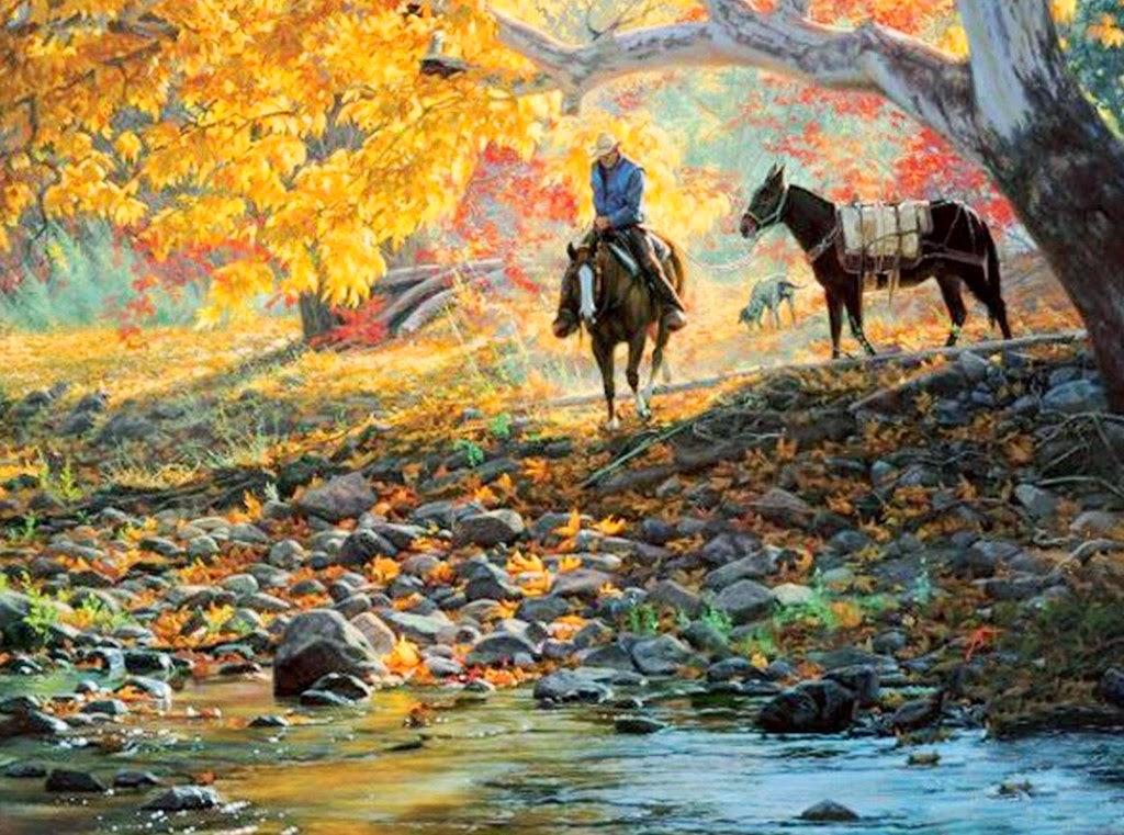 paisajes-del-campo-con-caballos-pintados-en-realismo