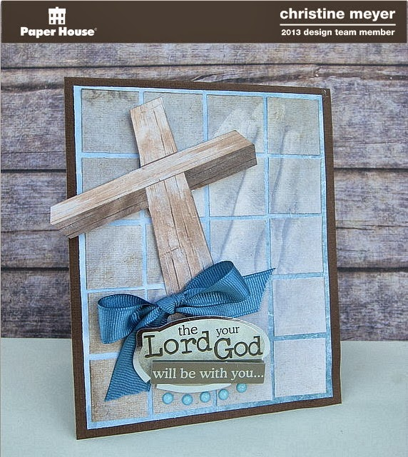 Christian card for Paper House Productions by Christine Meyer