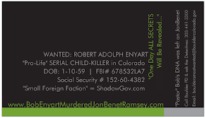 BIZ CARDS &amp; NEW BLOG: www.BobEnyartMurderedJonBenetRamsey.com
