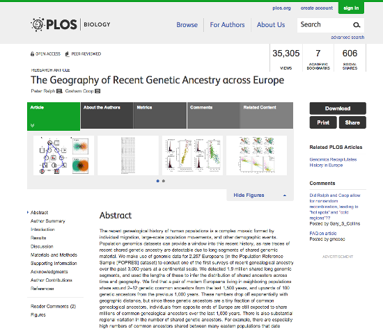 PLOS Biology website