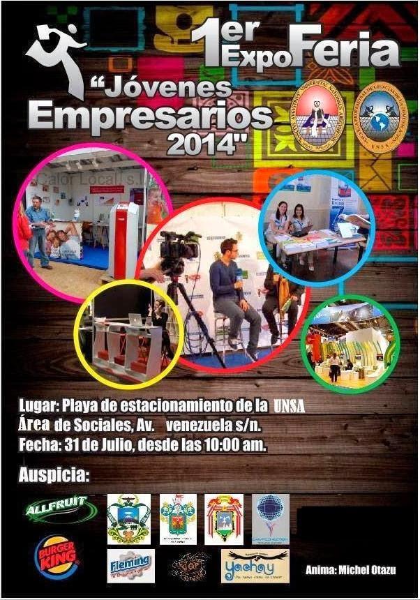 """1er Expo Feria """"Jóvenes Empresarios 2014"""""""