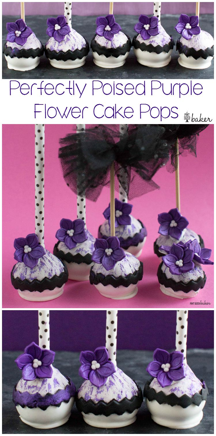 Perfectly Poised Posies on stunning Cake Pops! Perfect for a fashionable party and done in no time!