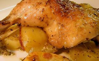Pernil de pollo al jengibre
