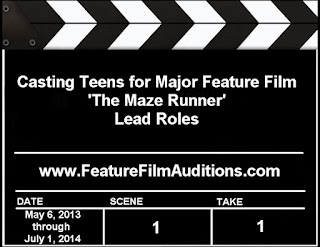 The Maze Runner Auditions Casting Calls