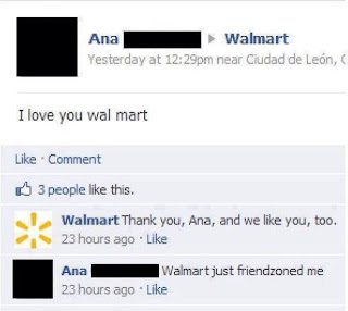 Friendzoned level: Walmart