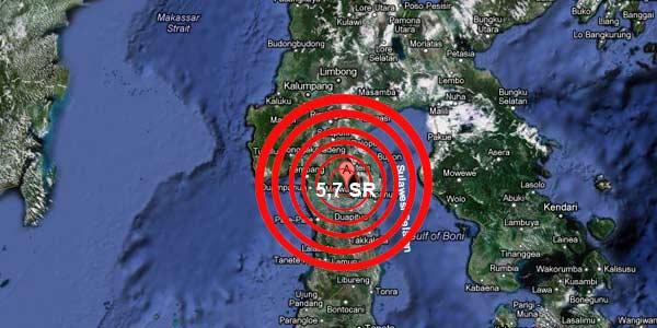 Sulsel diguncang gempa 5,7 SR